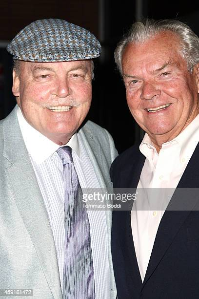 Actors Stacy Keach and Peter Jason attend the My Friend Ed Documentary premiere and reception held at UCLA James Bridges Theatre on November 17 2014...