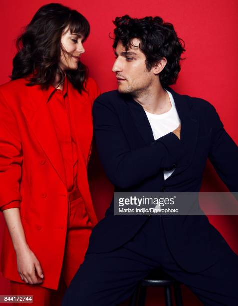 Actors Stacy Martin and Louis Garrel are photographed for Madame Figaro on June 21, 2017 in Paris, France. Martin: Suit . Garrel: Suit , t-shirt ....