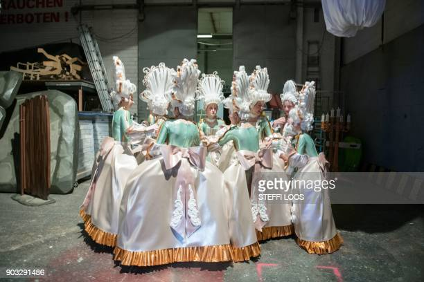 """Actors stand backstage at the Friedrichstadtpalast during the play """"Play with the Time"""" in Berlin, on November 19, 2017. 100 children perform in the..."""