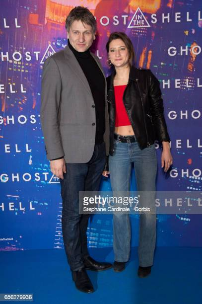 Actors Stanislas Merhar and Lola Creton attend the Paris Premiere of the Paramount Pictures release 'Ghost In The Shell' at Le Grand Rex on March 21...