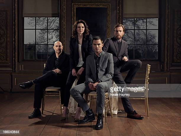 Actors Stanley Tucci Eleanor Tomlinson Nicholas Hoult and Ewan Mcgregor are photographed for USA Today on February 11 2013 in London England