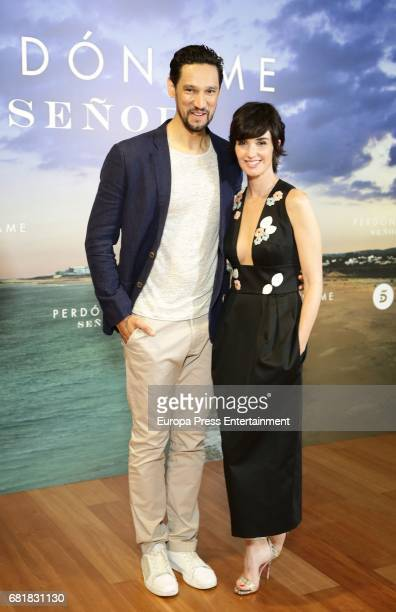 Actors Stany Coppet and Paz Vega attend the 'Perdoname Senor' photocall at Mediaset Studios on May 10 2017 in Madrid Spain