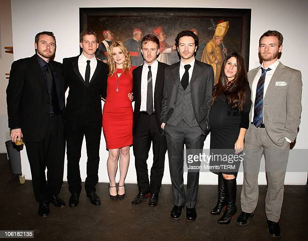 Actors Stark Sands Soleil Moon Frye Alex Breckenridge Ben Foster Danny Masterson and Chris Masterson attend the Bryten Goss 2008 Memorial Exhibition...