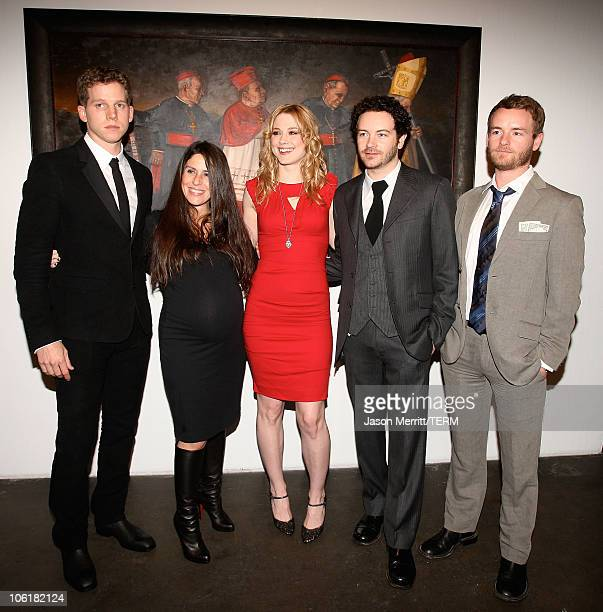 Actors Stark Sands Soleil Moon Frye Alex Breckenridge Danny Masterson and Chris Masterson attend the Bryten Goss 2008 Memorial Exhibition at Bergamot...