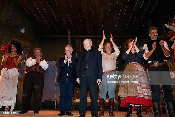 "Actors Stefi Celma, Urbain Cancelier, Stage Director of the Piece, Bernard Murat, Member of ""Academie francaise"" and autor of the Piece, Rene de..."