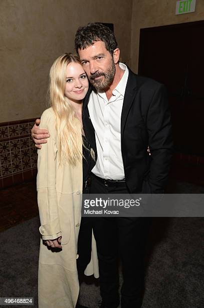 Actors Stella Banderas and Antonio Banderas attend the after party for the Centerpiece Gala Premiere of Alcon Entertainment's The 33 during AFI FEST...