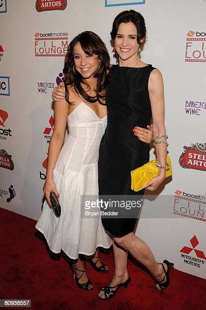 Actors Stella Maeve and Ally Sheedy arrive at the premiere of Harold at the 62nd and Broadway Cinema on April 30 2008 in New York City