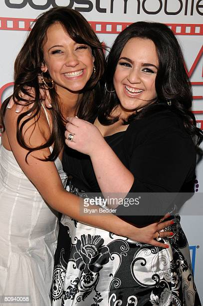 Actors Stella Maeve and Nikki Blonsky attend the premiere party for Harold hosted by the Boost Mobile film lounge at 1 Oak on April 30 2008 in New...