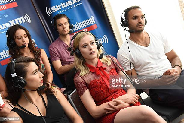 Actors Stella Maeve Jason Ralph Jade Tailor Olivia Taylor Dudley and Arjun Gupta attend SiriusXM's Entertainment Weekly Radio Channel Broadcasts From...