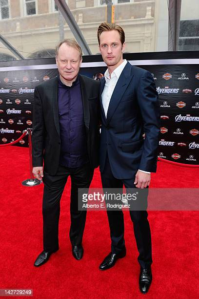 "Actors Stellan Skarsgard and Alexander Skarsgard attend the premiere of Marvel Studios' ""Marvel's The Avengers"" held at the El Capitan Theatre on..."