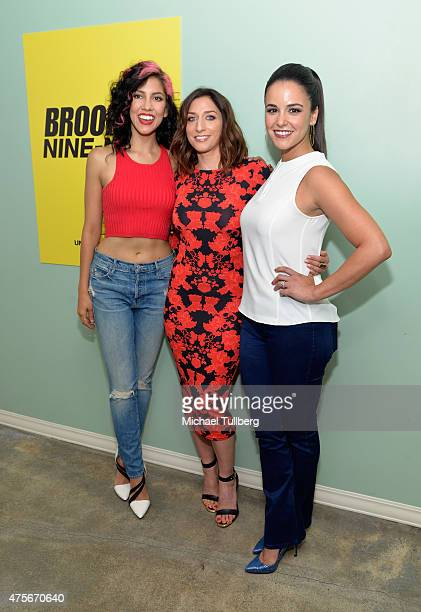 Actors Stephanie Beatriz Chelsea Pretti and Melissa Fumero attend Universal Television's 'Brooklyn NineNine' FYC panel at UCB Sunset Theater on June...