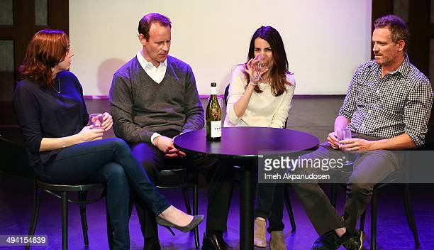 Actors Stephanie Courtney, Larry Dorf, Rachel Ramras and Hugh Davidson perform onstage at The Groundlings Theatre's celebration of their 40th...
