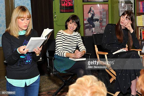 Actors Stephanie Drake Kate Micucci and Alexi Wasser read pages of Illeana Douglas' book 'I Blame Dennis Hopper And Other Stories From A Life Lived...