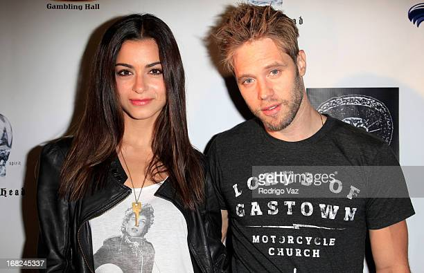 Actors Stephanie Fantauzzi and Shaun Sipos arrive at the Velvet Margarita's 10th Annual Cinco de Mayo Benefit with Annual Charity Celebrity Poker...