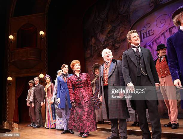 Actors Stephanie J Block Chita Rivera Jim Norton and Will Chase come out for a curtain call during the 'The Mystery Of Edwin Drood' Broadway Opening...