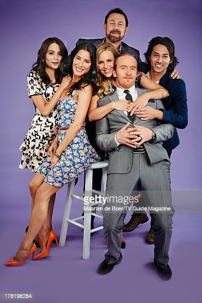 Actors Stephanie Leonidas, Jamie Murray, Julie Benz, Grant Bowler, Tony Curran and Jesse Rath are photographed for TV Guide Magazine on July 19, 2013...