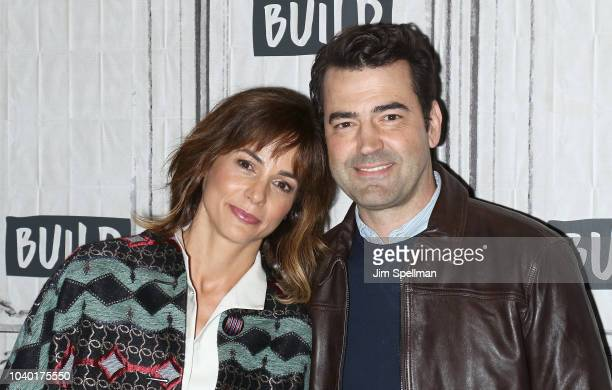 Actors Stephanie Szostak and Ron Livingston attend the Build Series to discuss 'A Million Little Things' at Build Studio on September 25 2018 in New...