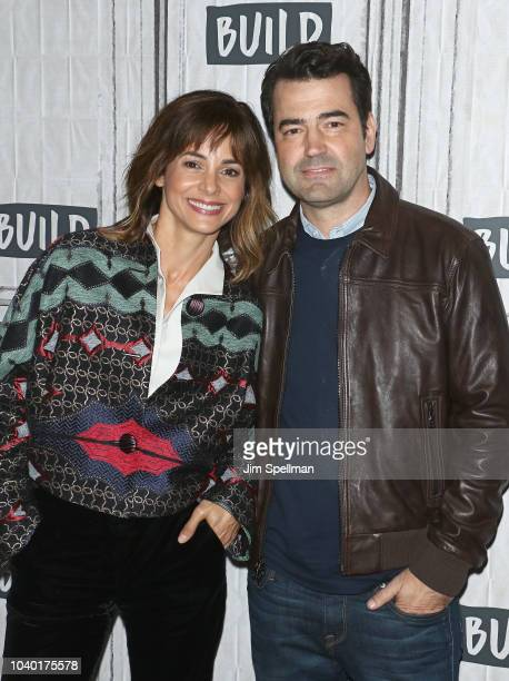 Actors Stephanie Szostak and Ron Livingston attend the Build Series to discuss A Million Little Things at Build Studio on September 25 2018 in New...