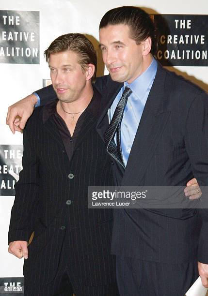 Actors Stephen and Billy Baldwin arrive at the Creative Coalition 2001 Spotlight Awards November 12 2001 at Sotheby's in New York City The benefit...