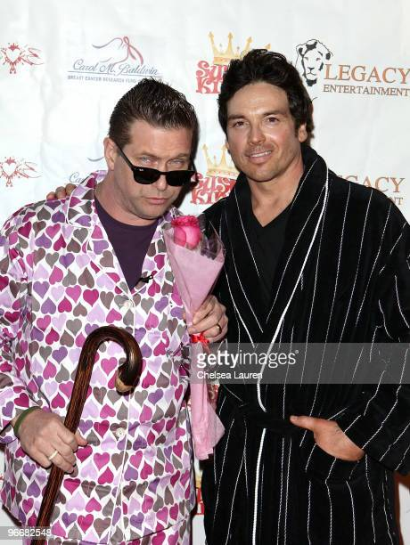 Actors Stephen Baldwin and Jason Gedrick attend the Bowling After Dark Benefit at PINZ Entertainment Center on February 13 2010 in Studio City...