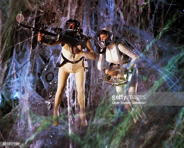Actors Stephen Boyd as Charles Grant and Raquel Welch as Cora Peterson in the scifi fantasy 'Fantastic Voyage' 1966