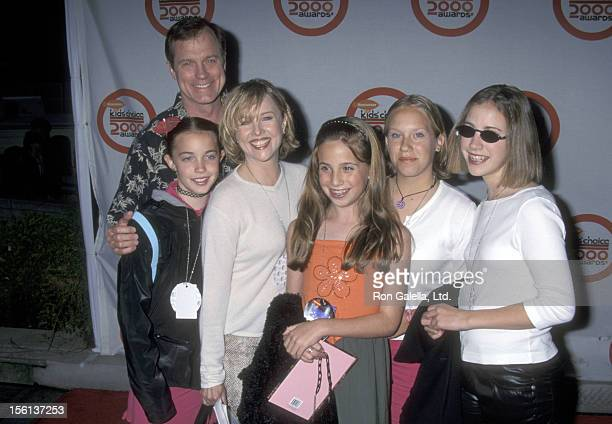 Actors Stephen Collins and Faye Grant and daughter Kate Collins and guests attend the 13th Annual Nickelodeon's Kids' Choice Awards on April 15 2000...
