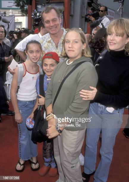 Actors Stephen Collins and Faye Grant and daughter Kate Collins and guests attend the 'Pokeman's First Movie' Hollywood Premiere at Mann's Chinese...