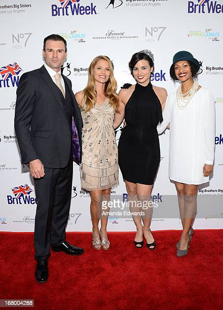 Actors Stephen Dunlevy Ellen Hollman Katrina Law and Cynthia AddaiRobinson arrive at the 'Downton Abbey' Britweek celebration at the Fairmont Miramar...