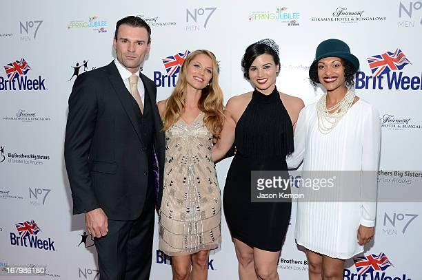Actors Stephen Dunlevy Ellen Hollman Katrina Law and Cynthia AddaiRobinson attend BritWeek Celebrates Downton Abbey at The Fairmont Miramar Hotel on...