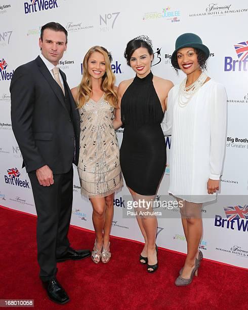 Actors Stephen Dunlevy Ellen Hollman Katrina Law and Cynthia AddaiRobinson attends the Britweek celebration of 'Downton Abbey' at Fairmont Miramar...