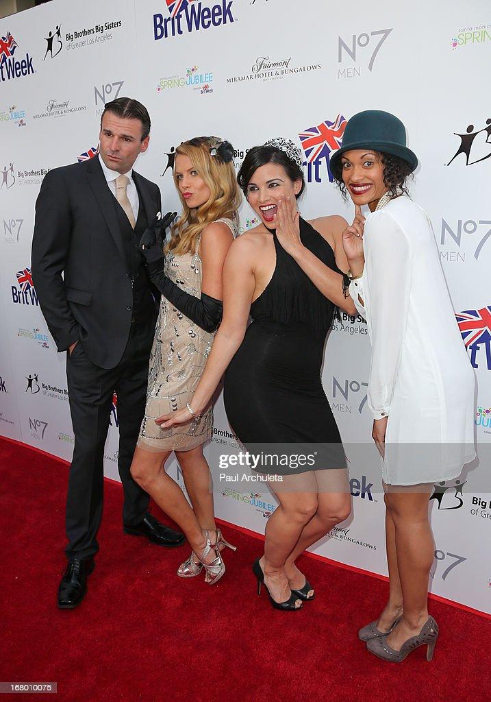 Actors Stephen Dunlevy, Ellen Hollman, Katrina Law and Cynthia Addai-Robinson attends the Britweek celebration of 'Downton Abbey' at Fairmont Miramar Hotel on May 3, 2013 in Santa Monica, California.