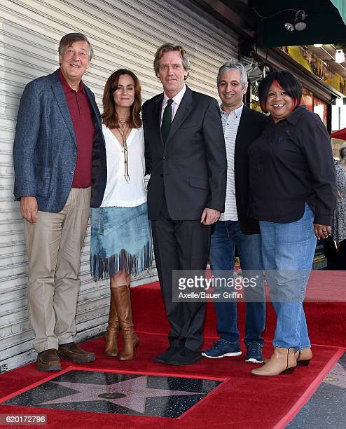 Actors Stephen Fry Diane Farr Hugh Laurie producer David Shore and singer Jean McClain aka Pepper MaShay attend the ceremony honoring Hugh Laurie...