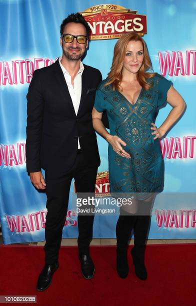 Actors Stephen Full and Annie Wersching attend the national tour of 'Waitress' Los Angeles engagement celebration at the Hollywood Pantages Theatre...