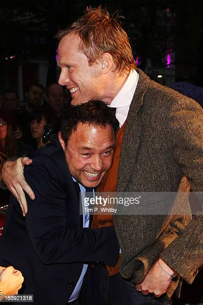 Actors Stephen Graham and Paul Bettany attend the premiere of 'Blood' during the 56th BFI London Film Festival at Odeon West End on October 11 2012...