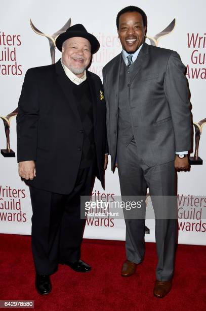 Actors Stephen Henderson and Russell Hornsby attend 69th Writers Guild Awards New York Ceremony at Edison Ballroom on February 19 2017 in New York...