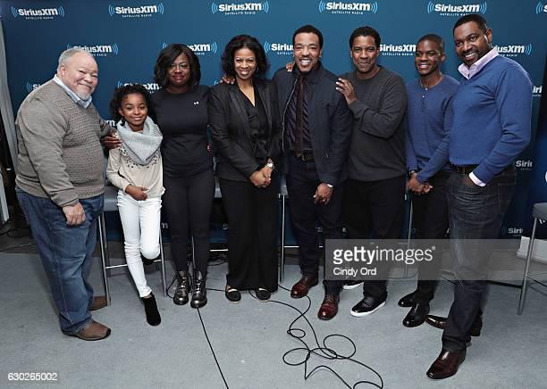 Actors Stephen Henderson Saniyya Sidney Viola Davis Russell Hornsby Denzel Washington Jovan Adepo and Mykelti Williamson take part in SiriusXM's Town...