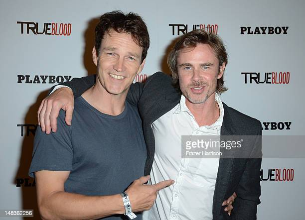 Actors Stephen Moyer and Sam Trammell attends the Playboy and True Blood 2012 Event on July 14, 2012 in San Diego, California.
