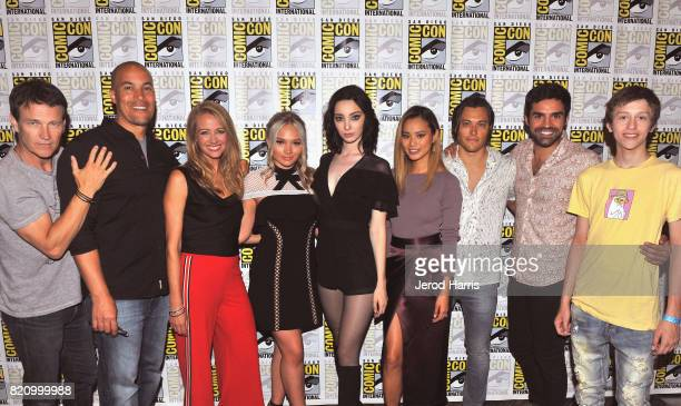 "Actors Stephen Moyer, Coby Bell, Amy Acker, Natalie Alyn Lind, Emma Dumont, Jamie Chung, Blair Redford, Sean Teale and Percy Hynes White at ""The..."