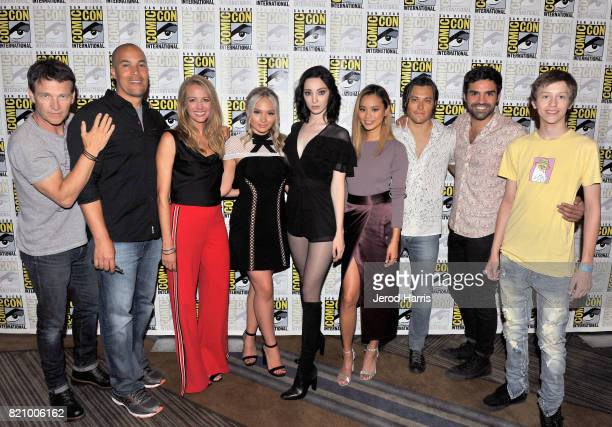Actors Stephen Moyer Coby Bell Amy Acker Natalie Alyn Lind Emma Dumont Jamie Chung Blair Redford Sean Teale and Percy Hynes White at 'The Gifted'...