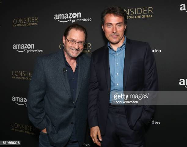 Actors Stephen Root and Rufus Sewell at the Amazon Original Series The Man in the High Castle Emmy FYC screening and panel at the Hollywood Athletic...