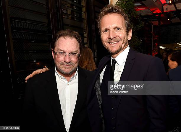 Actors Stephen Root and Sebastain Roche pose at the after party for the premiere screening of Amazon's Man In The High Castle Season 2 at Catch on...