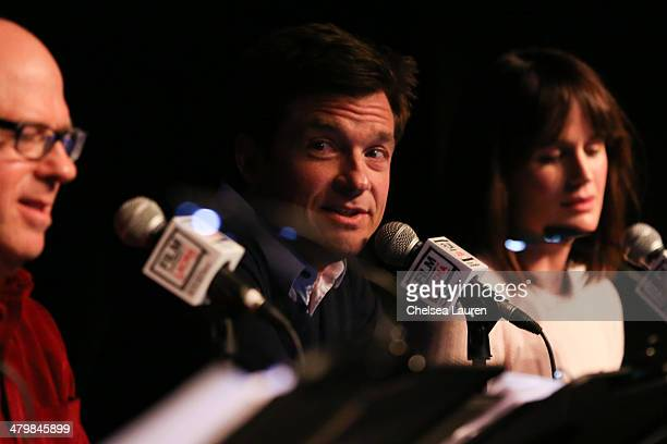 Actors Stephen Tobolowsky Jason Bateman and Elizabeth Reaser attend the Film Independent at LACMA live read of Groundhog Day at Bing Theatre At LACMA...