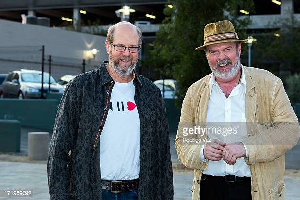Actors Stephen Tobolowsly and Rick Overton attend The Academy of Motion Picture Arts and Sciences hosts Oscars Outdoors with a screening of Groundhog...
