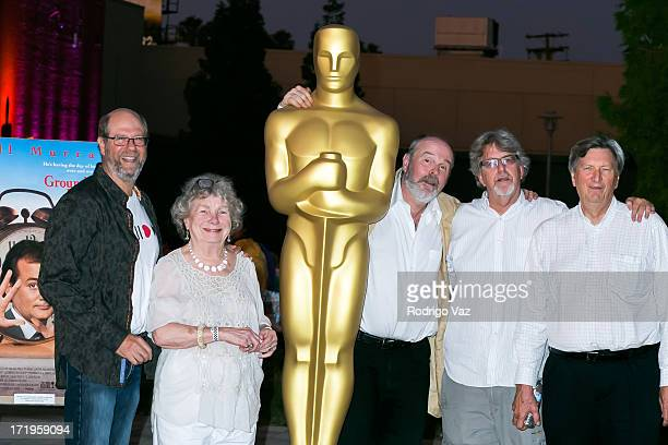 Actors Stephen Tobolowsly Angela Paton and Rick Overton producer Trevor Albert and cinematographer John Bailey attend The Academy of Motion Picture...