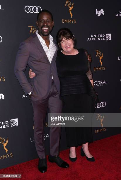 Actors Sterling K Brown and Ann Dowd attend the Television Academy Honors Emmy Nominated Performers at Wallis Annenberg Center for the Performing...