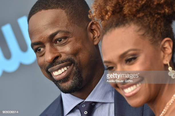 Actors Sterling K Brown and Ryan Michelle Bathe attend the 23rd Annual Critics' Choice Awards at Barker Hangar on January 11 2018 in Santa Monica...