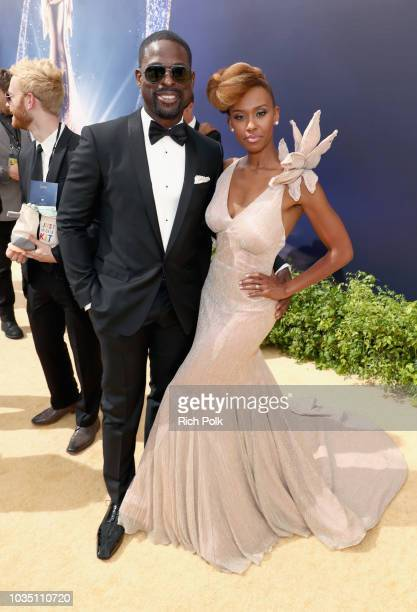 Actors Sterling K Brown and Ryan Michelle Bathe attend the 70th Annual Primetime Emmy Awards at Microsoft Theater on September 17 2018 in Los Angeles...
