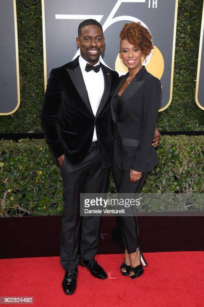 Actors Sterling K Brown and Ryan Michelle Bathe attend The 75th Annual Golden Globe Awards at The Beverly Hilton Hotel on January 7 2018 in Beverly...