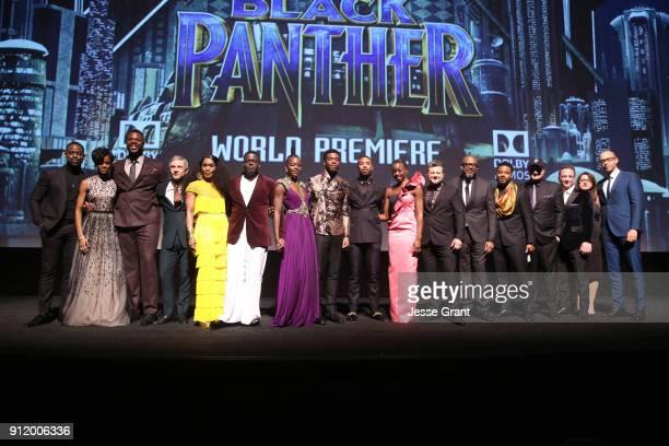Actors Sterling K Brown Letitia Wright Winston Duke Martin Freeman Angela Bassett Daniel Kaluuya Lupita Nyong'o Chadwick Boseman Michael B Jordan...