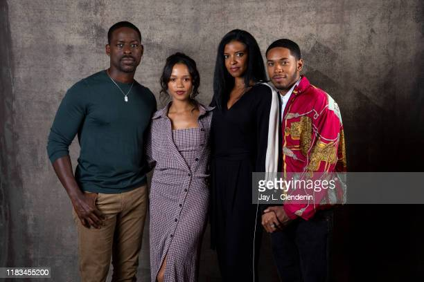 Actors Sterling K Brown Taylor Russell Renee Elise Goldsberry and Kelvin Harrison Jr from 'Waves' are photographed for Los Angeles Times on September...